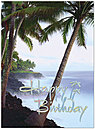 Birthday Palms Greeting Card 128U-X