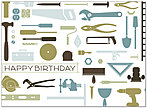 Tools Birthday Card 139U-Y