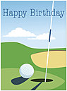 Last Putt Birthday Card 141U-Y