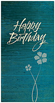 Teal Floral Birthday Card 149T-Z