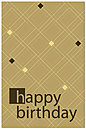 Happy Birthday Plaid Postcard 151P-Z