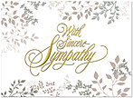 Sympathy Leaves Greeting Card 153U-X