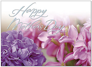 Mother's Day Floral Greeting Card 158U-X