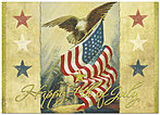 4th of July Nostalgia Greeting Card 163D-X