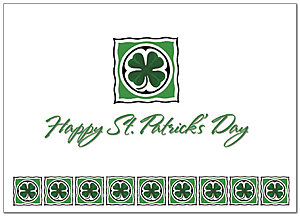 Clover Border St. Patrick's Day Card 165D-Y