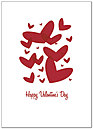 Floating Valentines Greeting Card 166D-Y