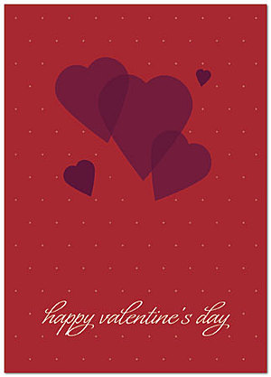 graphic hearts card | business valentine's day cards | posty cards, Ideas