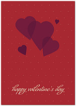 Graphic Hearts Valentine's Day Card 167D-Y