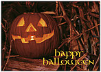 Glowing Jack-O-Lantern Halloween Card 170D-Y