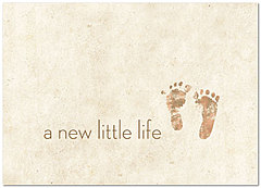 Baby Feet Congratulations Card 172D-Y