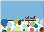 Get Well Dots Greeting Card 181D-Y