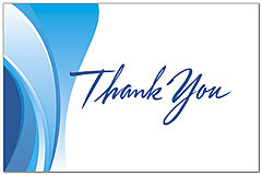 Swirl Thank You Postcard 186P-Z
