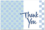 Squares Thank You Postcard 187P-Z