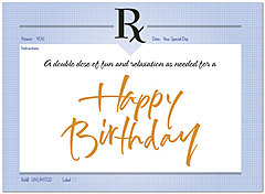 Birthday Prescription Card 195U-Y