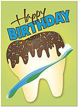 Tooth Cake Birthday Card 197U-Y