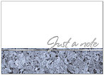 Silver Blue Border Notecard A1365D-X