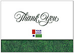 Green Border Logo Thank You Card D100D-V