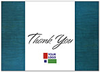 Teal Logo Thank You Card D104D-V