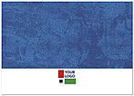 Blue Solid Logo Notecard D107D-V