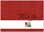 Red Logo Thank You Card D108D-V