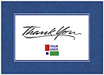 Blue Border Logo Thank You Card D110D-V