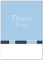 Lt Blue Logo Thank You Card D115D-V