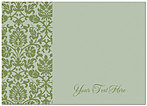 Custom Brocade Notecard D1378D-V