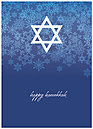 Star of David Hanukkah Card D1334D-A