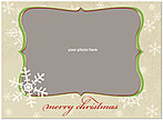 Taupe Snowflakes Photo Card D1335U-4B