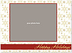 Cheerful Snowflakes Photo Card D1336U-4B
