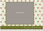 Christmas Flakes Photo Card D1340U-4B