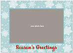 Blue Flakes Photo Card D1341U-4B