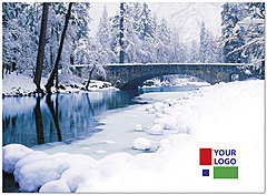 Winter Bridge Logo Card D1350U-4B
