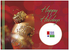 Holiday Ornament Logo Card D1355U-4B