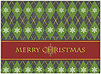 Argyle Christmas Card H1273G-AAA
