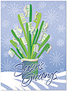 Toothbrush Tree Holiday Card H1301U-AA