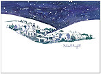 Silent Night Christmas Card H1307U-A