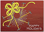 Builder's Wreath Holiday Card H1312D-A