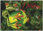 Green Frog Holiday Card H1326KW-AA