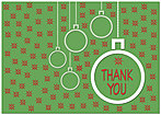 Green Holiday Thank You Card H1327KW-AA