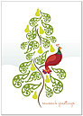 Partridge Tree Holiday Card H1329KW-AA