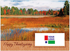 Thanksgiving Scene Logo Card D1254U-4B