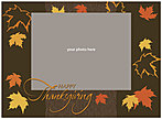 Dancing Leaves Brown Photo Card D1264U-4B