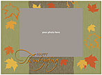 Dancing Leaves Green Photo Card D1266U-4B