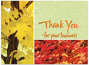 Colors of Fall Thank You Card H1226U-AA