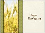 Wheat Field Thanksgiving Card H1230U-A