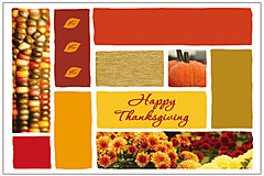 Seasonal Icons Thanksgiving Postcard H1234P-B