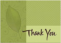 Green Leaf Thank You Card 189KW-X