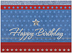 All-American Birthday Card A2002S-W