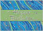 Abstract Birthday Card A2004S-W